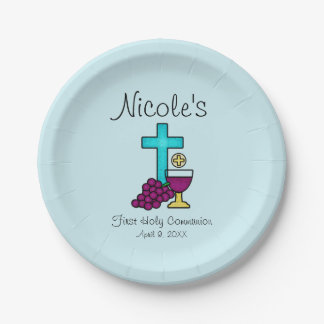 Personalized First Holy Communion Paper Plate