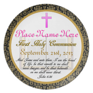 Personalized First Holy Communion Plate Plaque