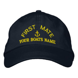 Personalized first mate  yacht crew baseball cap