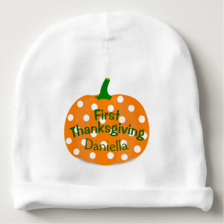 Personalized First Thanksgiving Baby Beanie