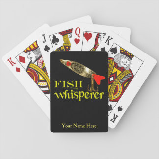 Personalized Fish Whisperer Playing Cards
