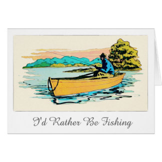 Personalized Fishing Greeting Card