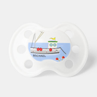 Personalized Fishing Trawler on the Ocean Pacifier