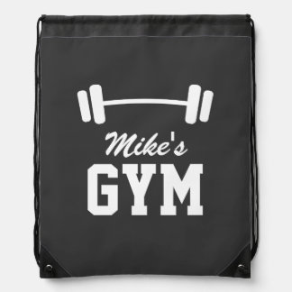 Personalized fitness gym drawstring backpack bag