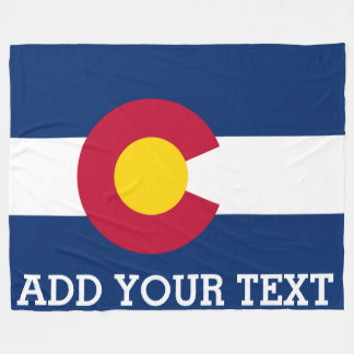 Personalized Flag of Colorado Fleece Blanket