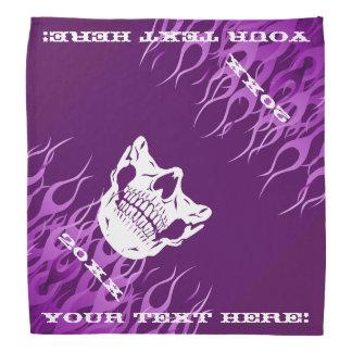 Personalized Flames Skull Half Face Mask Purple Head Kerchiefs