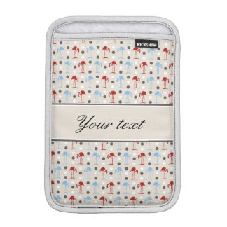 Personalized Flamingos and Polka Dots Pattern iPad Mini Sleeve