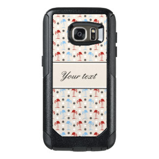 Personalized Flamingos and Polka Dots Pattern OtterBox Samsung Galaxy S7 Case