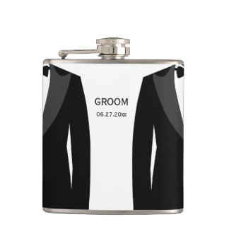 Personalized Flasks - Gay Wedding Gift For Groom