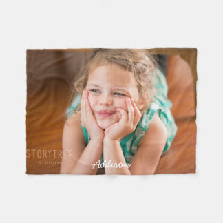Personalized Fleece Blankets Add Photo 30x40