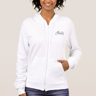 Personalized Fleece Zip Hoodie/Angel Wings Hoodie