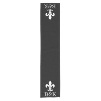 Personalized fleur de lis table runner for wedding
