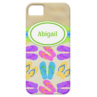 Personalized Flip Flops and Beach iPhone 5 Case