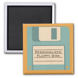 Personalized Floppy Disc Square Magnet