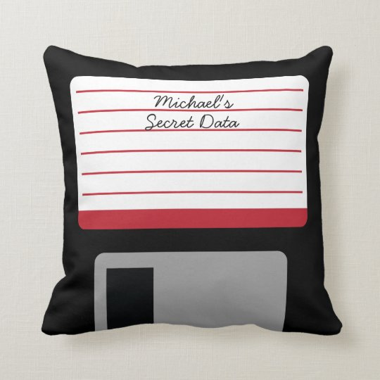 Personalized Floppy Disc Throw Pillow