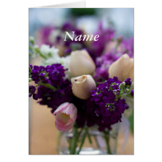 Personalized Floral Birthday Card