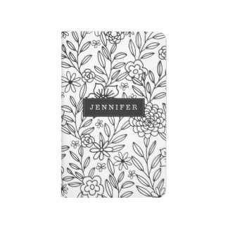 Personalized | Floral Doodles Coloring Journal