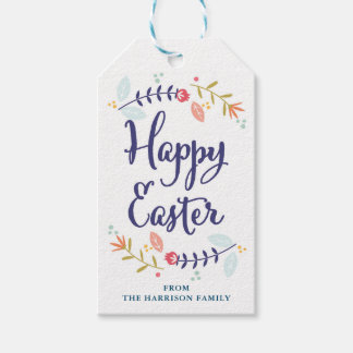 Personalized Floral Easter Gift Tags