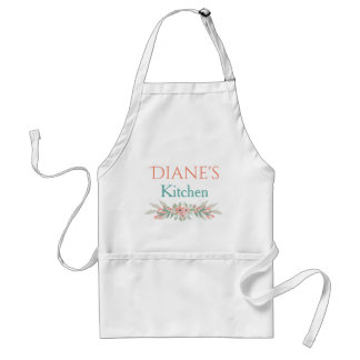 Personalized Floral Kitchen Standard Apron