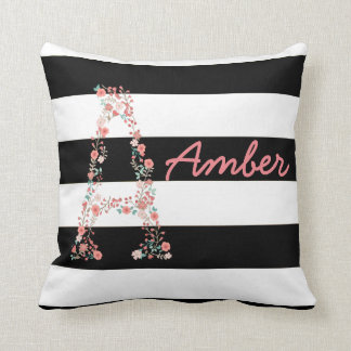 Personalized Floral Pillow