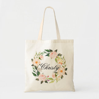 Personalized Floral Wreath Braidsmaid,Welcome2 Tote Bag