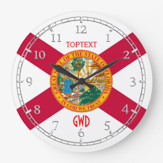 Personalized Florida State Flag Design on Large Clock