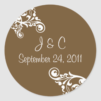 Personalized Flourish Envelope Seal Sticker