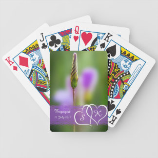 Personalized Flower Engagement Keepsake Bicycle Playing Cards