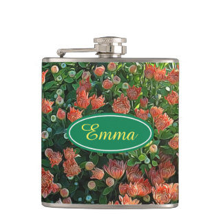 Personalized Flower Garden Secret Flask