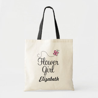 Personalized Flower Girl Bridal Tote Bag
