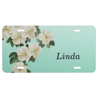 Personalized Flower License Plates License Plate