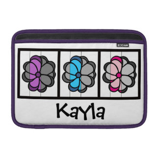 Personalized Flower Macbook Sleeve