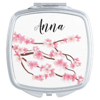 personalized flower name makeup mirror
