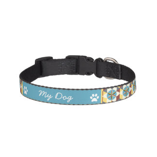 Personalized Flower Of Life Sacred Geometry Pet Collar