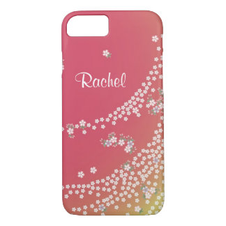 Personalized Flower Petals in the Wind iPhone 7 Case