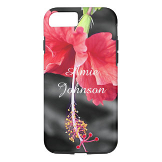 Personalized flower print iPhone case
