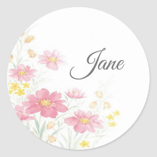 Personalized flower stickers