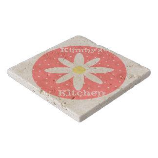 Personalized Flower Stone Trivet