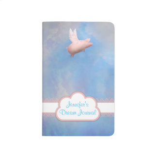 Personalized Flying Pig Journal