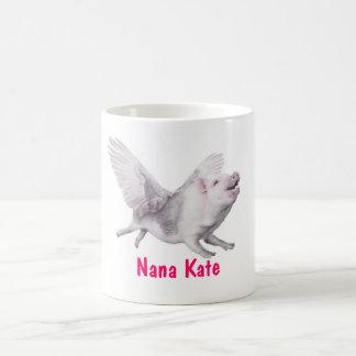 Personalized Flying Pig Mug for Mom Grandma Nana