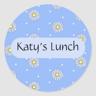 Personalized Food Label for Special Diets Round Sticker