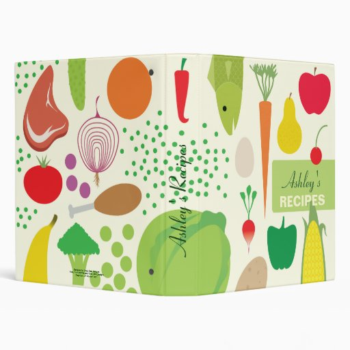 Personalized Food Recipes Binder