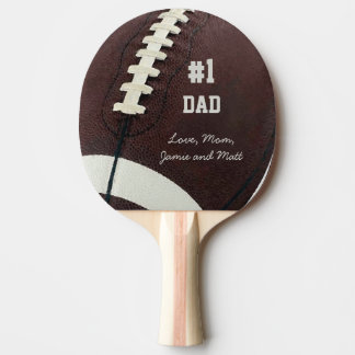 Personalized Football #1 Dad Ping Pong Paddle