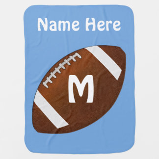 Personalized Football Baby Blanket in Your Colors