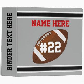 Personalized Football Binders, Football Memories Vinyl Binders