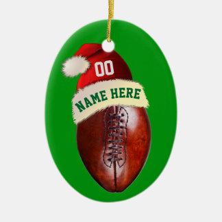 Personalized Football Christmas Tree Ornaments