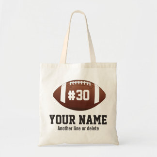 Personalized football Custom Name Number Tote Bag