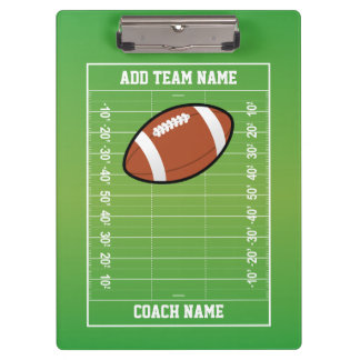Personalized Football Field Coach Clipboard