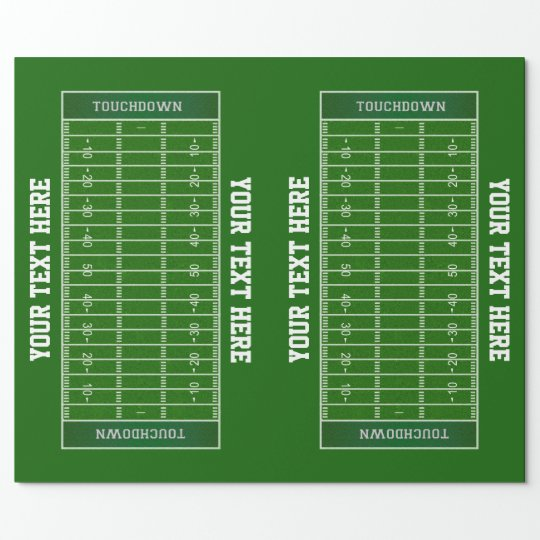 Personalized Football Field Gift Wrapping Paper