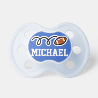 Personalized football pacifer for baby boy pacifier
